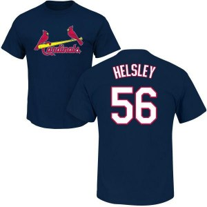 Ryan Helsley St. Louis Cardinals Men's Navy Roster Name & Number T-Shirt -