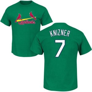 Andrew Knizner St. Louis Cardinals Men's Green St. Patrick's Day Roster Name & Number T-Shirt -