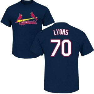 Tyler Lyons St. Louis Cardinals Youth Navy Roster Name & Number T-Shirt -