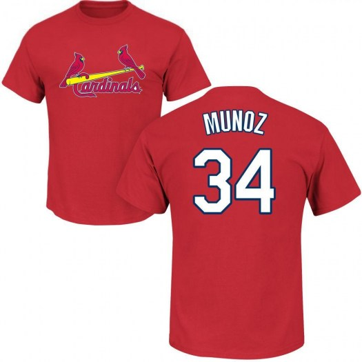 Yairo Munoz St. Louis Cardinals Youth Red Roster Name & Number T-Shirt -