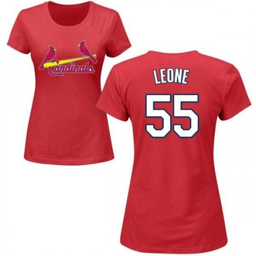 Dominic Leone St. Louis Cardinals Women's Red Roster Name & Number T-Shirt -