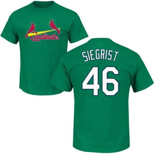 Kevin Siegrist St. Louis Cardinals Men's Green St. Patrick's Day Roster Name & Number T-Shirt -