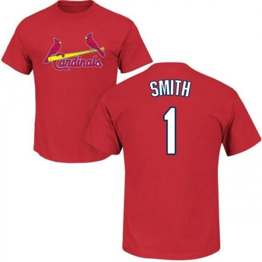 Ozzie Smith St. Louis Cardinals Men's Red Roster Name & Number T-Shirt -